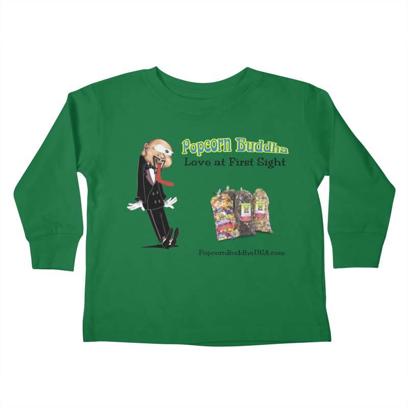 Love at First Sight Kids Toddler Longsleeve T-Shirt by Popcorn Buddha Merchandise
