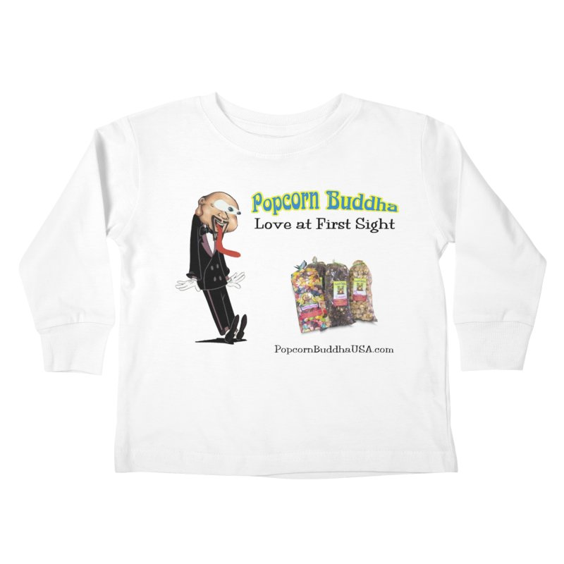 Love at First Sight Kids Toddler Longsleeve T-Shirt by Popcorn Buddha Merchandise