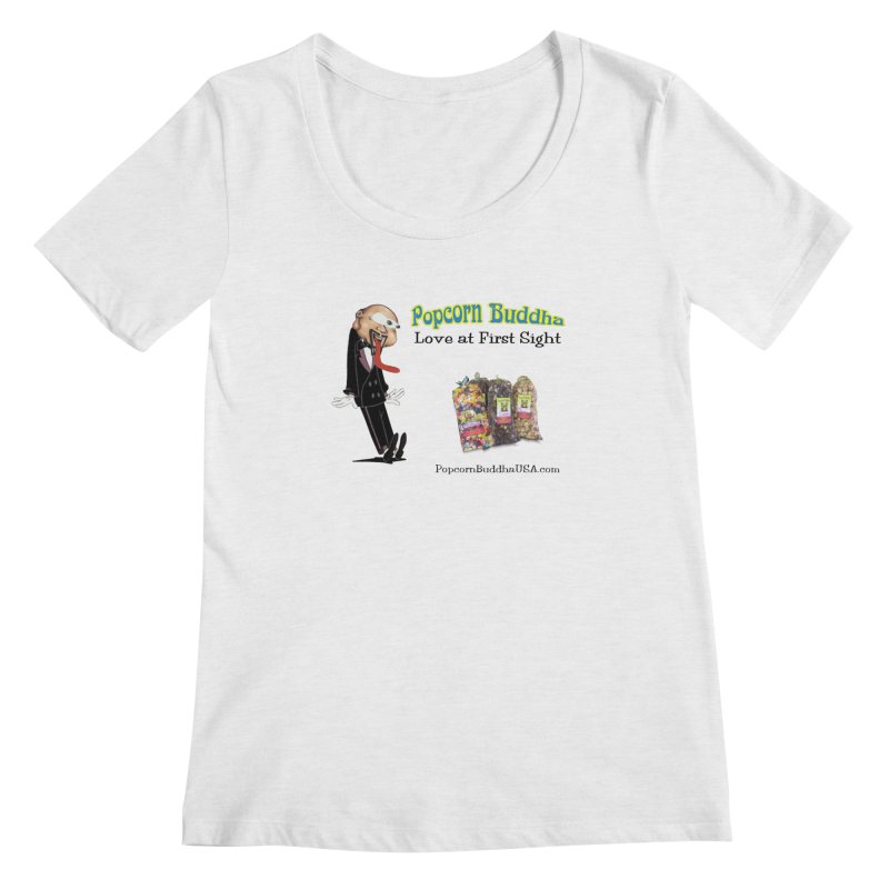 Love at First Sight Women's Regular Scoop Neck by Popcorn Buddha Merchandise