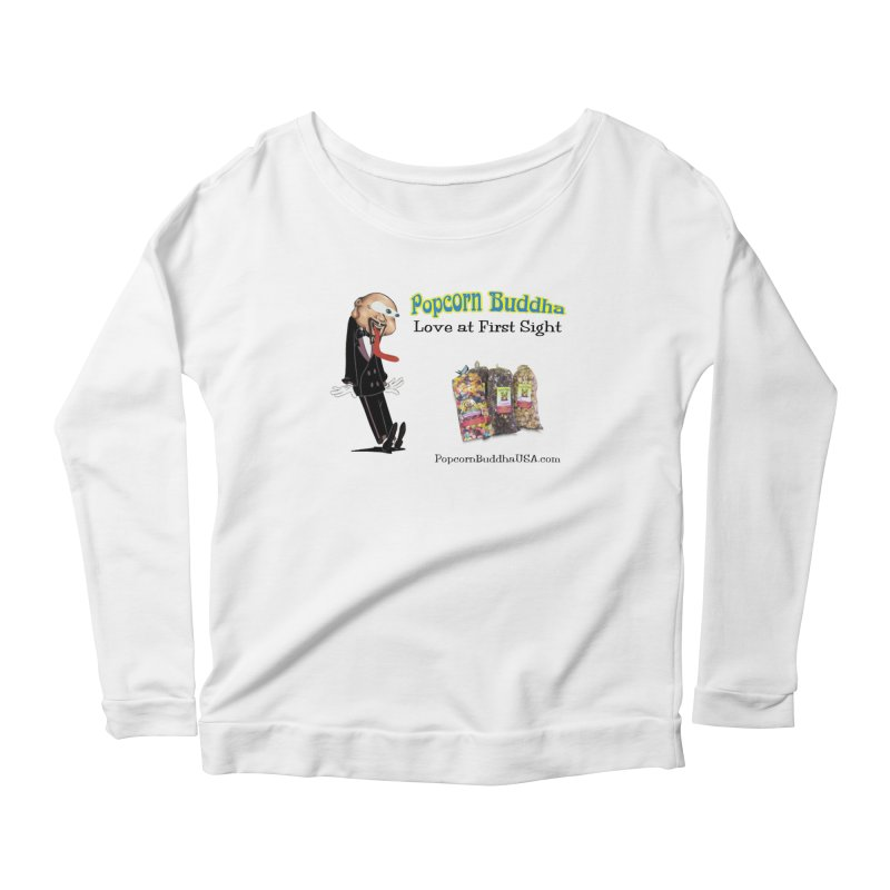 Love at First Sight Women's Scoop Neck Longsleeve T-Shirt by Popcorn Buddha Merchandise