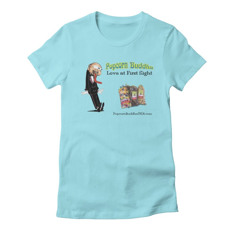 Love at First Sight Women's Fitted T-Shirt by Popcorn Buddha Merchandise
