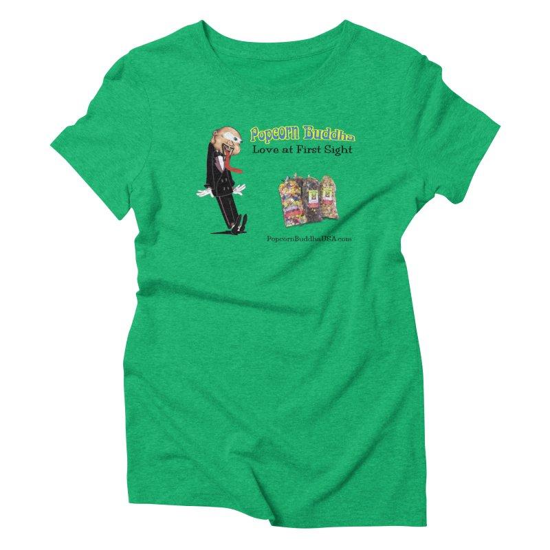 Love at First Sight Women's Triblend T-Shirt by Popcorn Buddha Merchandise