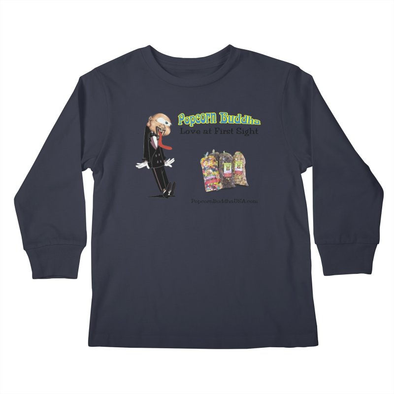 Love at First Sight Kids Longsleeve T-Shirt by Popcorn Buddha Merchandise
