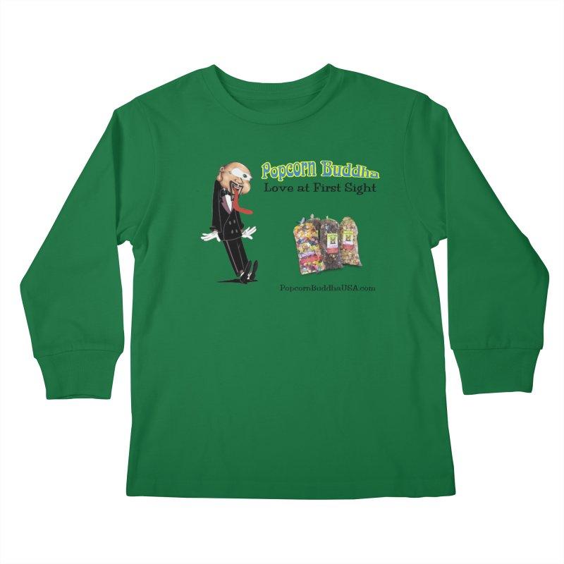 Love at First Sight Kids Longsleeve T-Shirt by Popcorn Buddha Merchandise