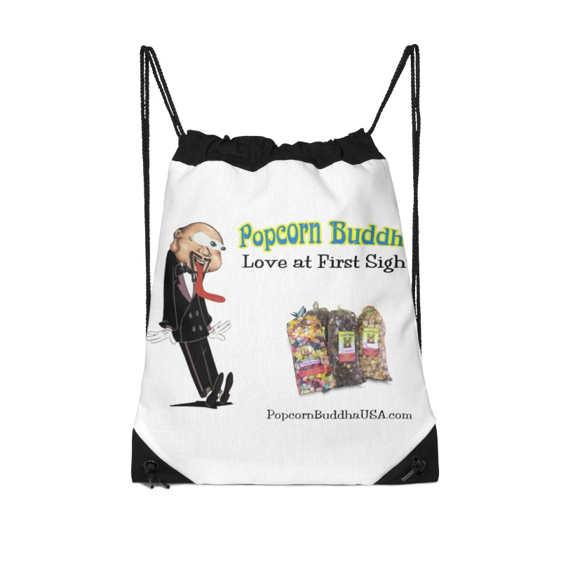 Love at First Sight Accessories Drawstring Bag Bag by Popcorn Buddha Merchandise