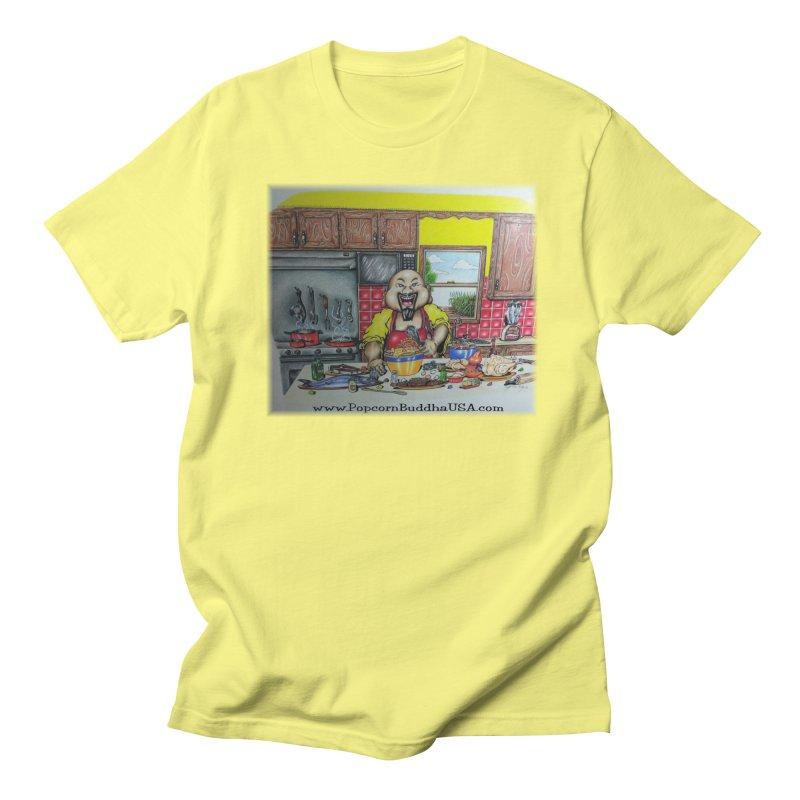 Popcorn Buddha in the kitchen Men's T-Shirt by Popcorn Buddha Merchandise