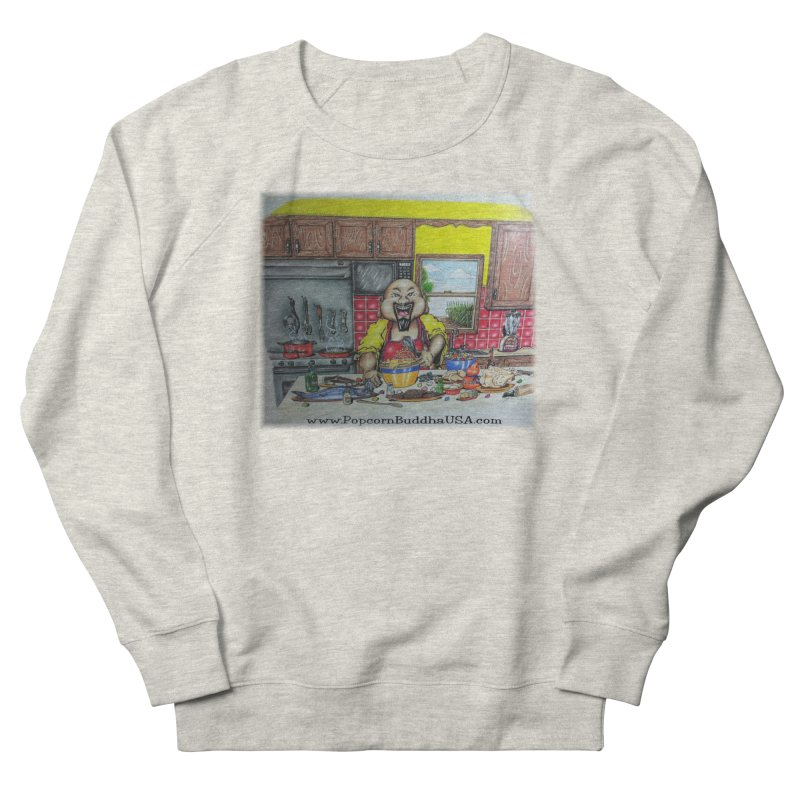 Popcorn Buddha in the kitchen Women's Sweatshirt by Popcorn Buddha Merchandise