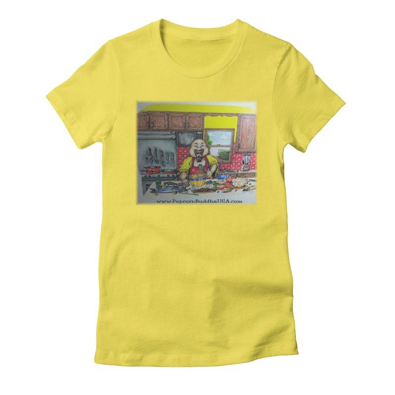 Popcorn Buddha in the kitchen Women's T-Shirt by Popcorn Buddha Merchandise