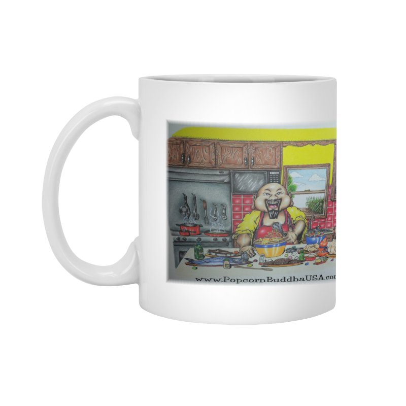 Popcorn Buddha in the kitchen Accessories Mug by Popcorn Buddha Merchandise