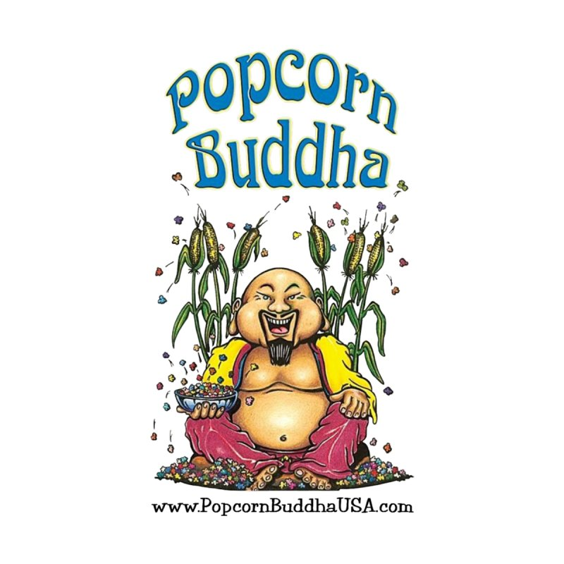 Sitting Buddha logo Men's V-Neck by Popcorn Buddha Merchandise