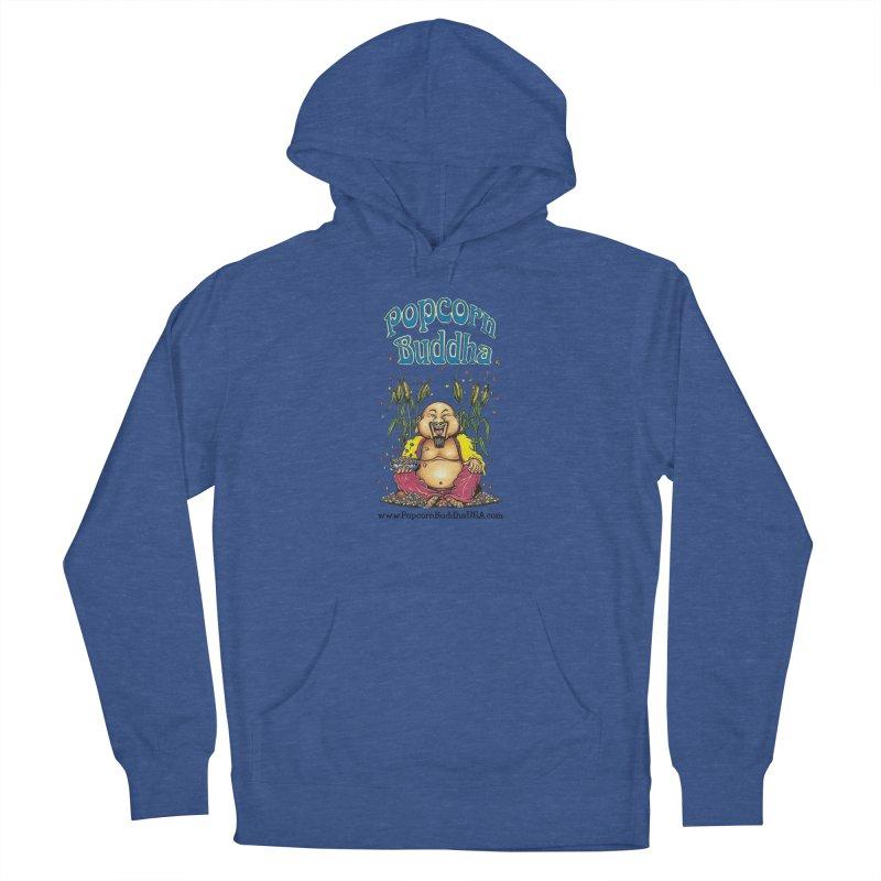 Sitting Buddha logo Men's Pullover Hoody by Popcorn Buddha Merchandise