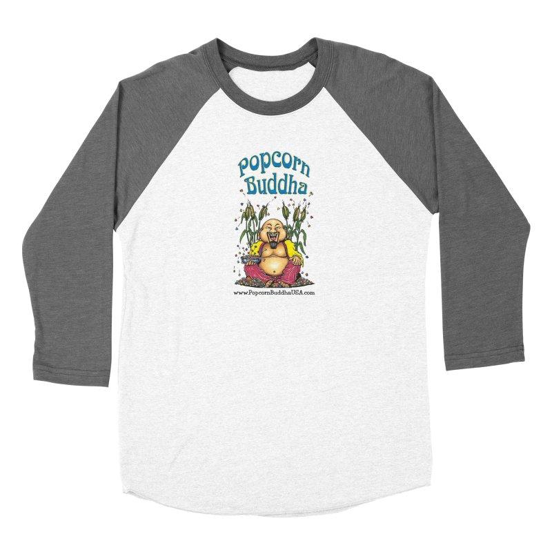 Sitting Buddha logo Women's Longsleeve T-Shirt by Popcorn Buddha Merchandise