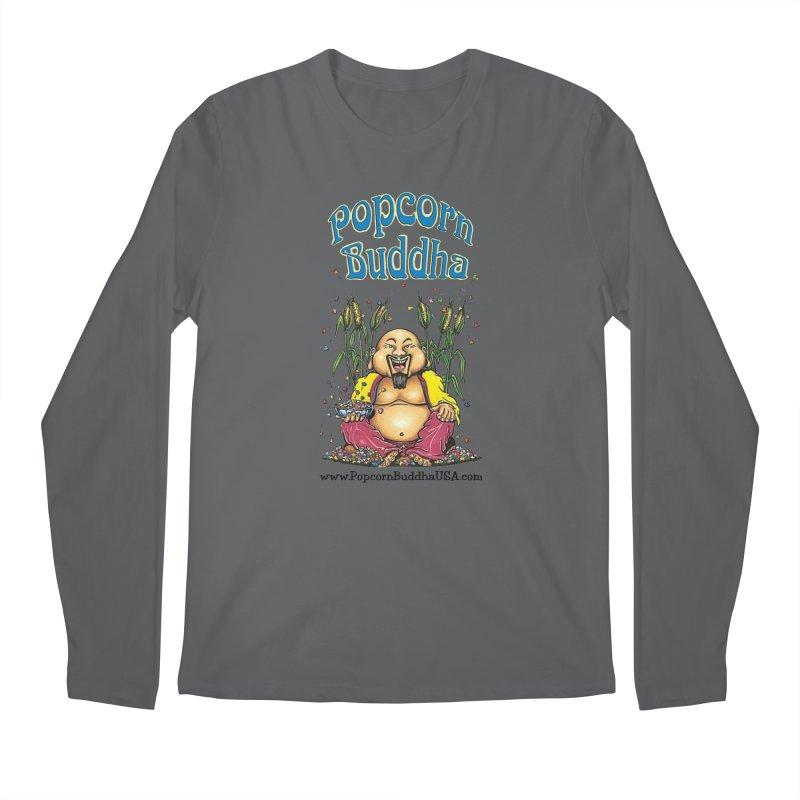 Sitting Buddha logo Men's Longsleeve T-Shirt by Popcorn Buddha Merchandise