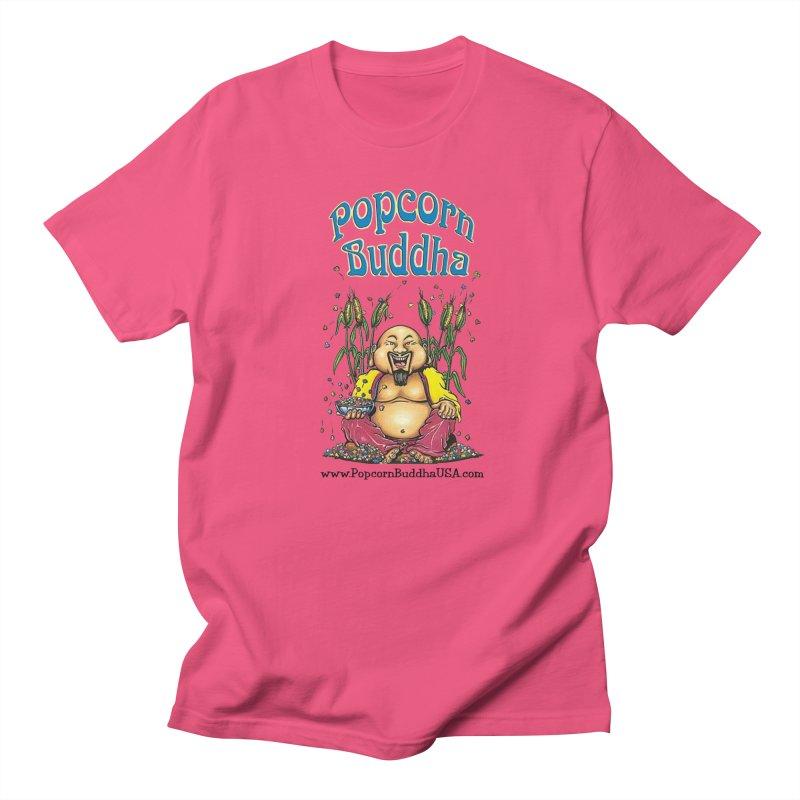 Sitting Buddha logo Men's Regular T-Shirt by Popcorn Buddha Merchandise