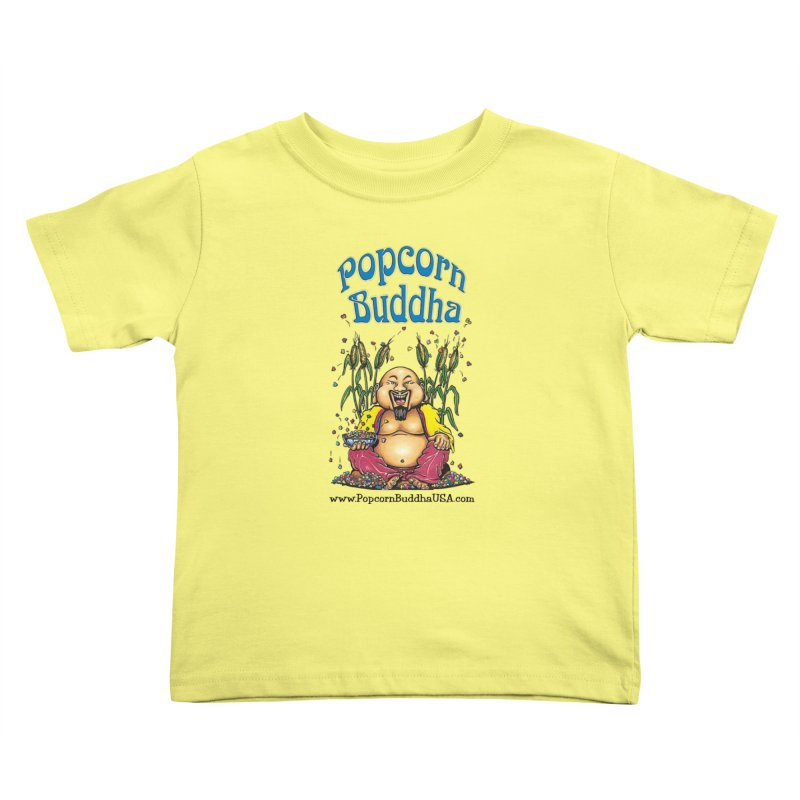 Sitting Buddha logo Kids Toddler T-Shirt by Popcorn Buddha Merchandise