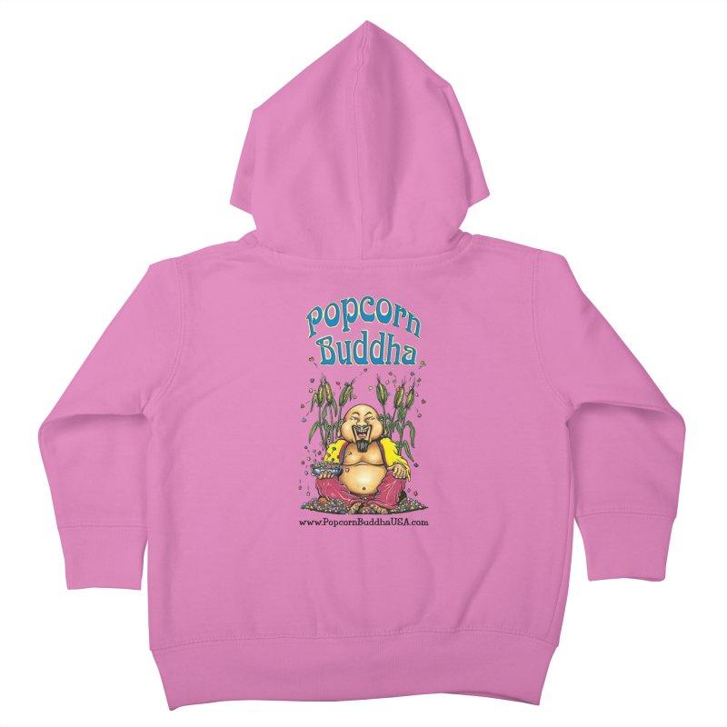 Sitting Buddha logo Kids Toddler Zip-Up Hoody by Popcorn Buddha Merchandise