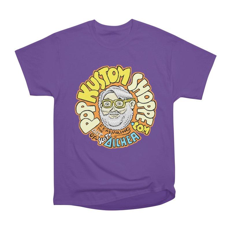 Pop Kustom Shoppe Logo Women's Heavyweight Unisex T-Shirt by Popkustomshoppe Artist Shop