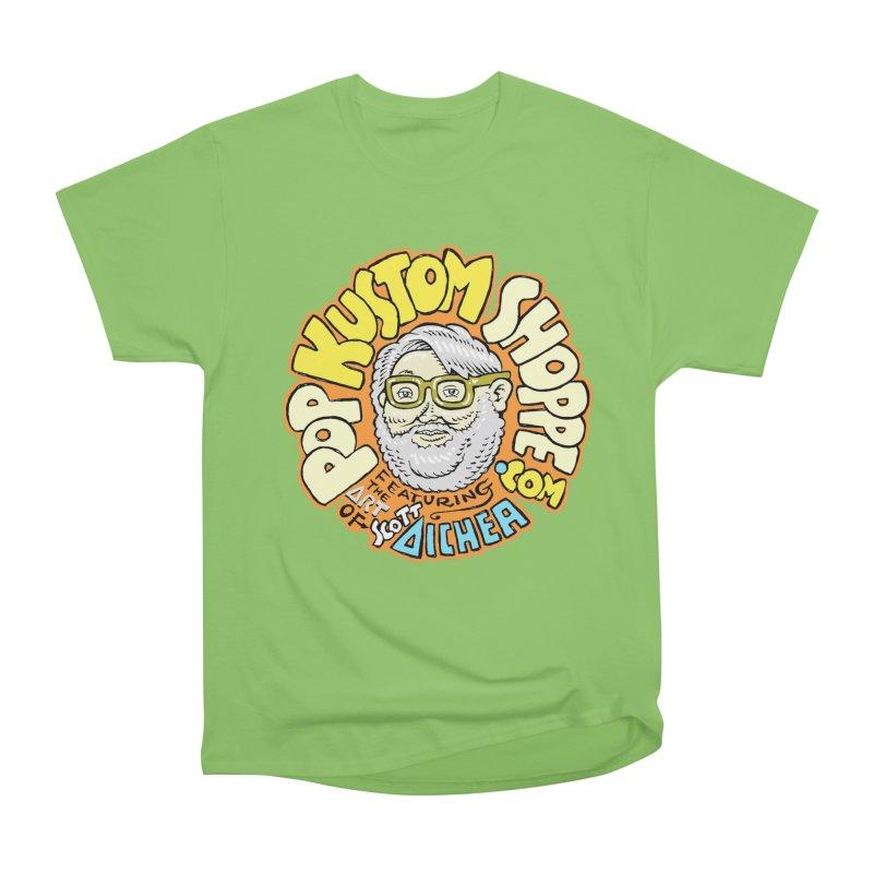 Pop Kustom Shoppe Logo Men's Heavyweight T-Shirt by Popkustomshoppe Artist Shop
