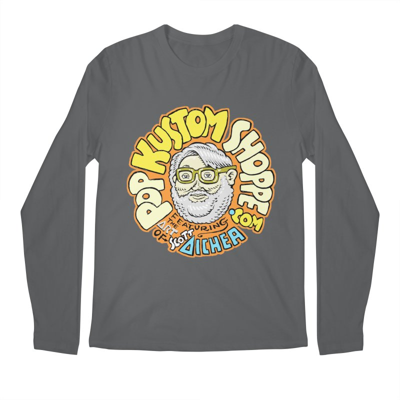 Pop Kustom Shoppe Logo Men's Regular Longsleeve T-Shirt by Popkustomshoppe Artist Shop