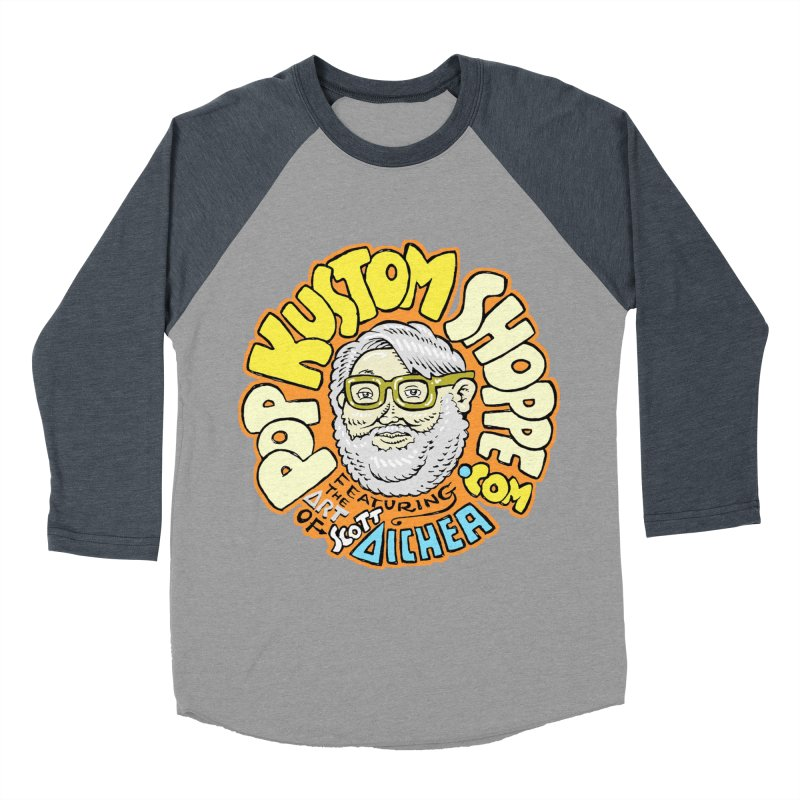 Pop Kustom Shoppe Logo Men's Baseball Triblend Longsleeve T-Shirt by Popkustomshoppe Artist Shop