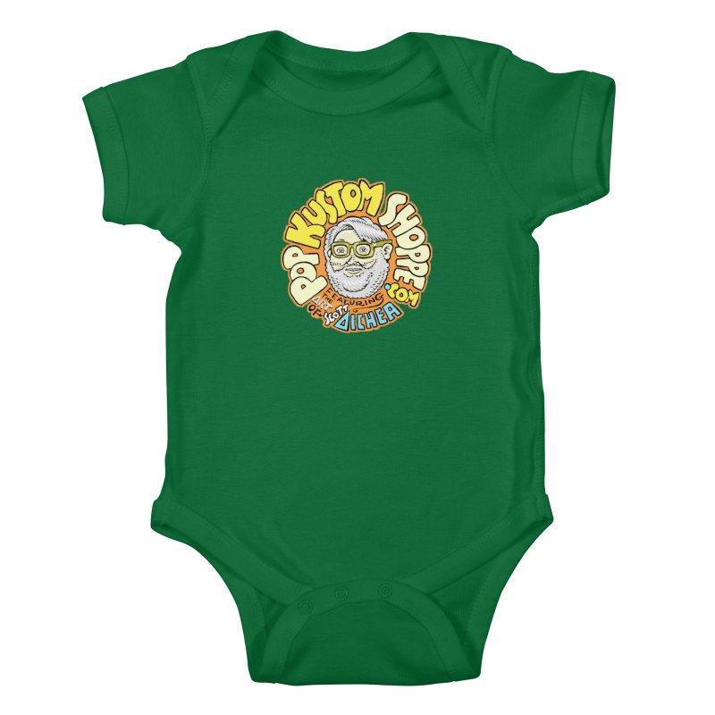 Pop Kustom Shoppe Logo Kids Baby Bodysuit by Popkustomshoppe Artist Shop