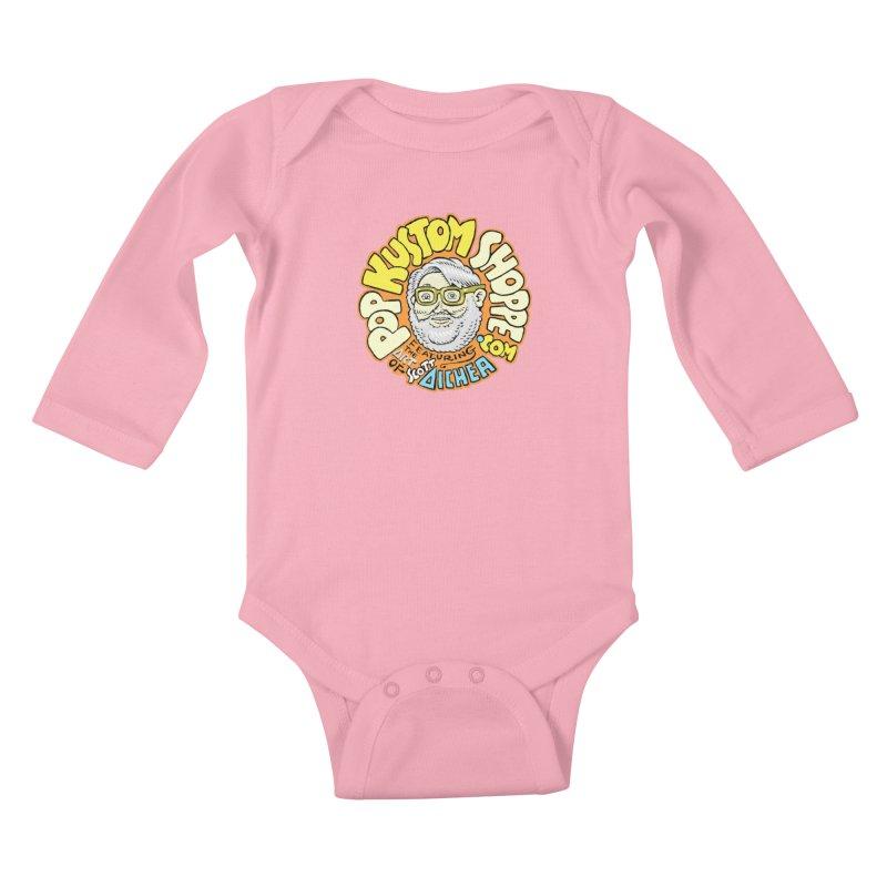 Pop Kustom Shoppe Logo Kids Baby Longsleeve Bodysuit by Popkustomshoppe Artist Shop