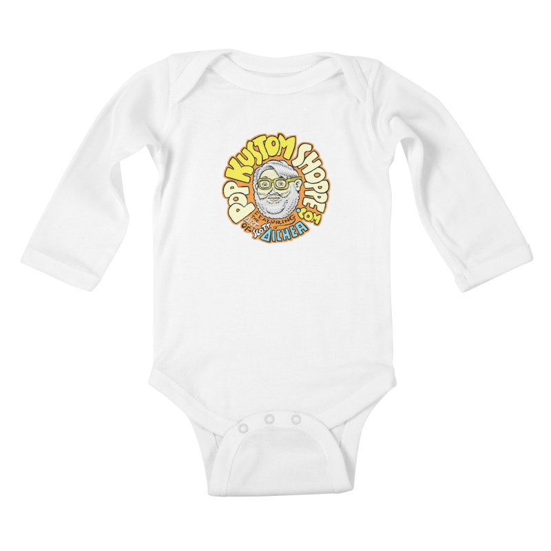 Pop Kustom Shoppe Logo Kids Baby Longsleeve Bodysuit by Popkustomshoppe Artist Shop