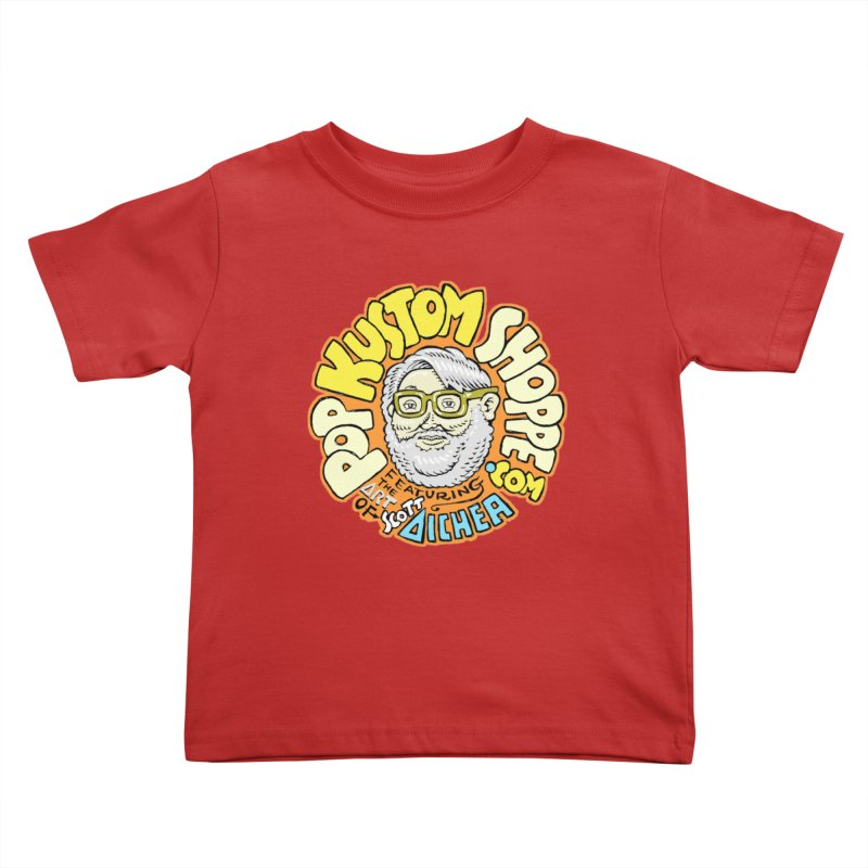 Pop Kustom Shoppe Logo Kids Toddler T-Shirt by Popkustomshoppe Artist Shop