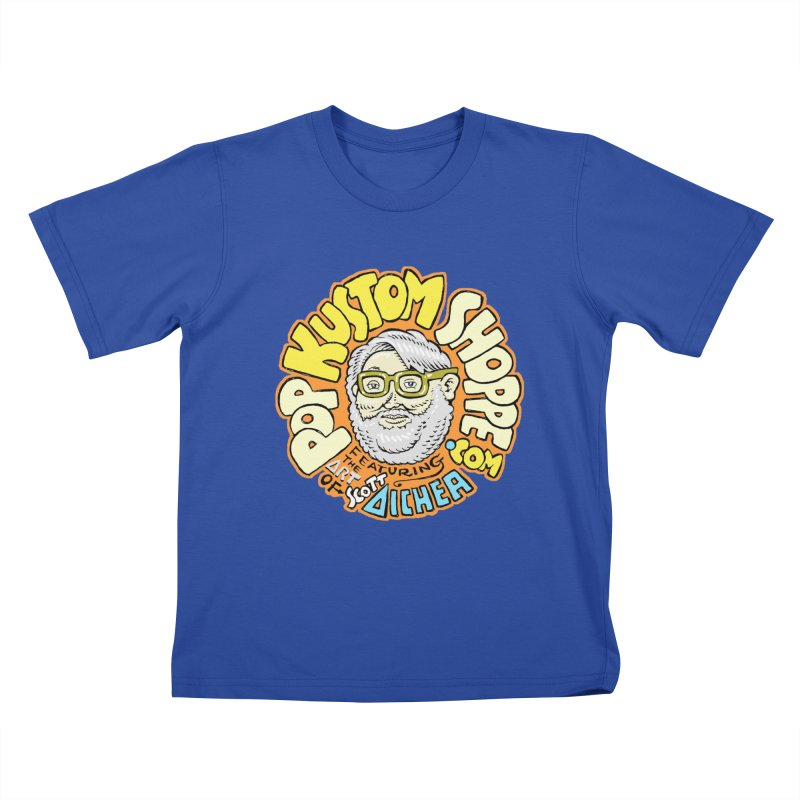 Pop Kustom Shoppe Logo Kids T-Shirt by Popkustomshoppe Artist Shop