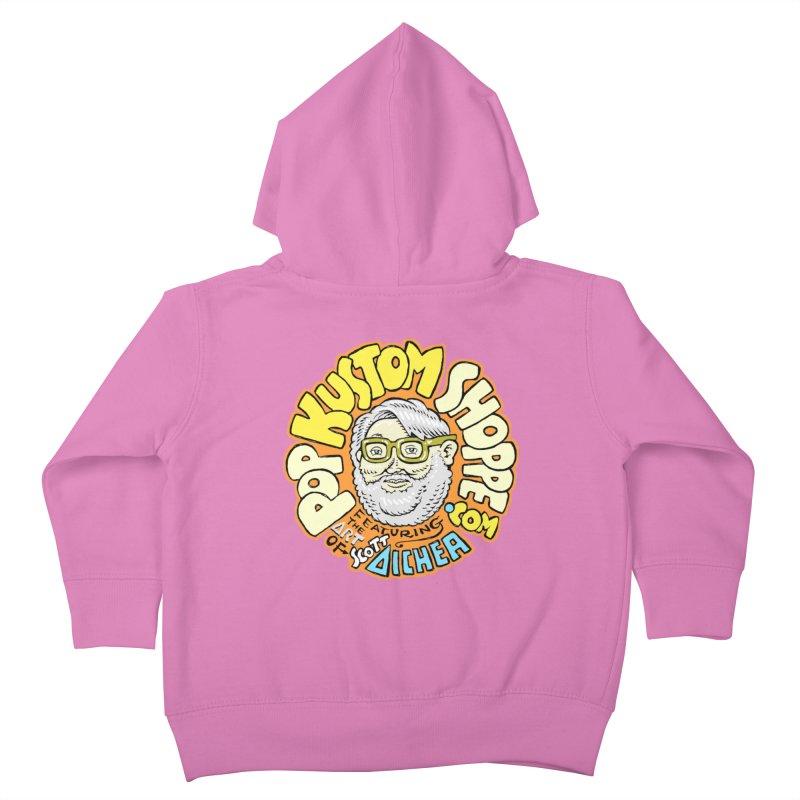 Pop Kustom Shoppe Logo Kids Toddler Zip-Up Hoody by Popkustomshoppe Artist Shop