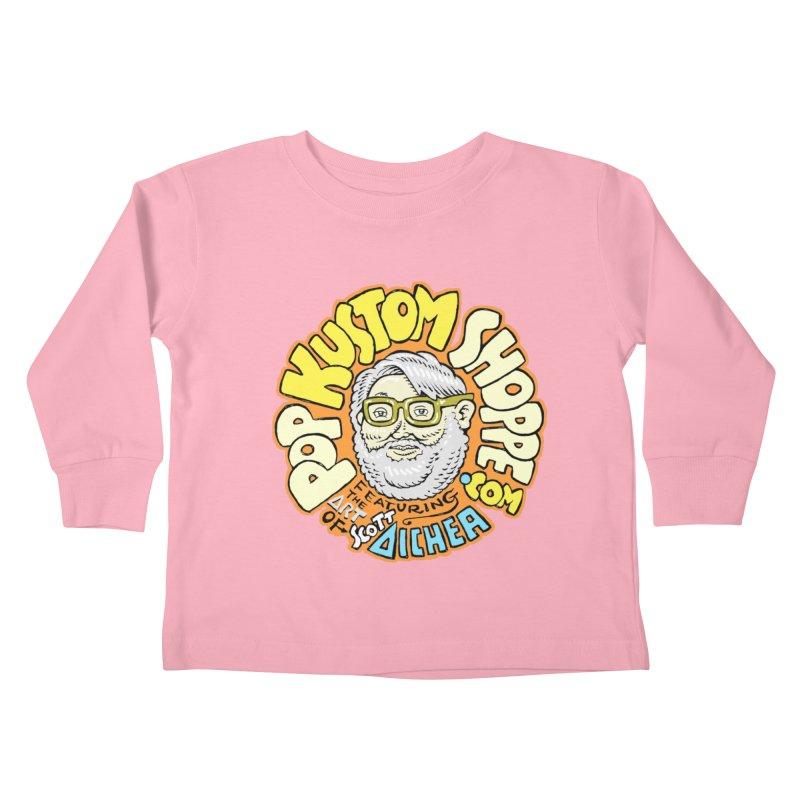 Pop Kustom Shoppe Logo Kids Toddler Longsleeve T-Shirt by Popkustomshoppe Artist Shop