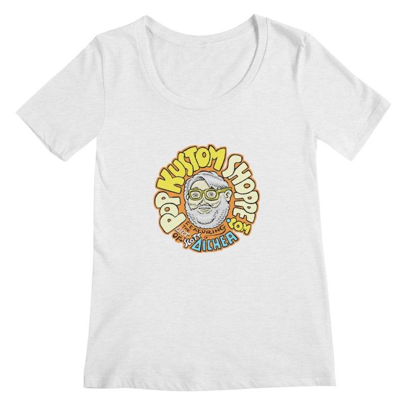 Pop Kustom Shoppe Logo Women's Regular Scoop Neck by Popkustomshoppe Artist Shop