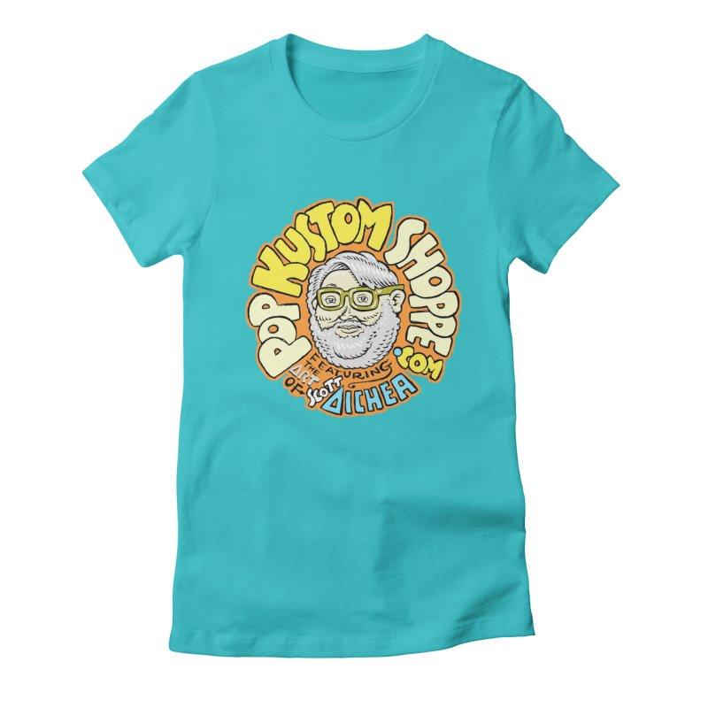 Pop Kustom Shoppe Logo Women's Fitted T-Shirt by Popkustomshoppe Artist Shop