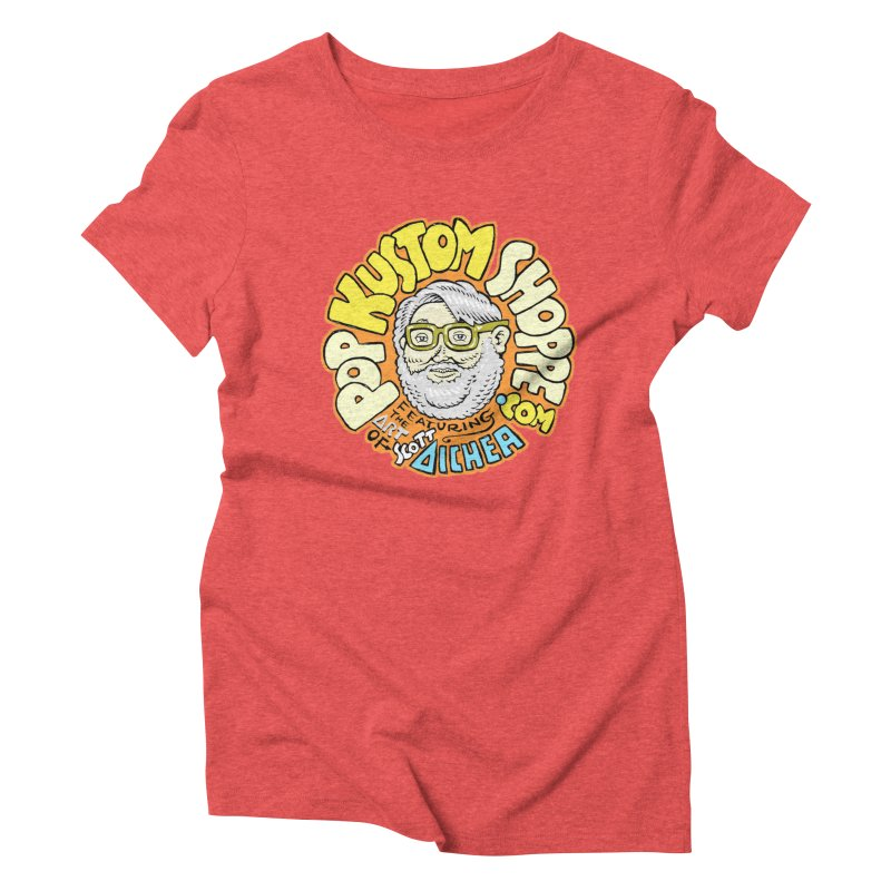 Pop Kustom Shoppe Logo Women's Triblend T-Shirt by Popkustomshoppe Artist Shop