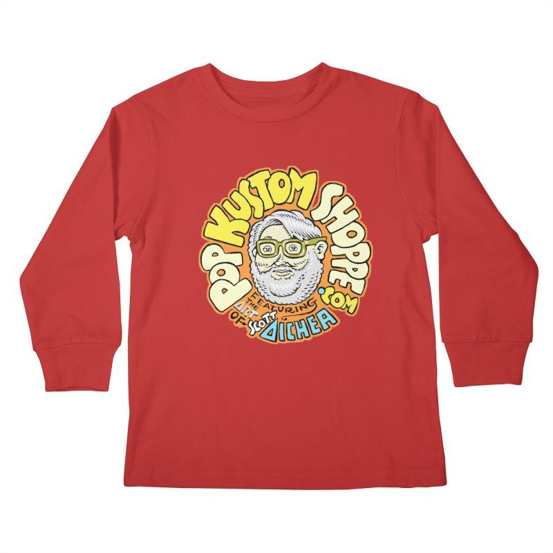 Pop Kustom Shoppe Logo Kids Longsleeve T-Shirt by Popkustomshoppe Artist Shop
