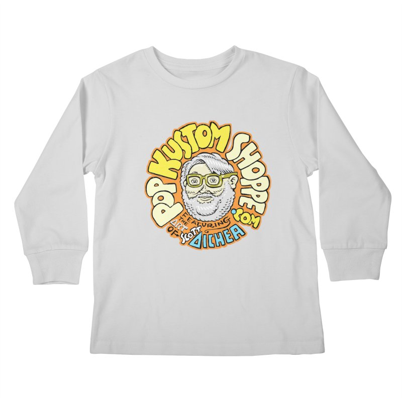 Pop Kustom Shoppe Logo Kids Longsleeve T-Shirt by Popkustomshoppe Artist Shop