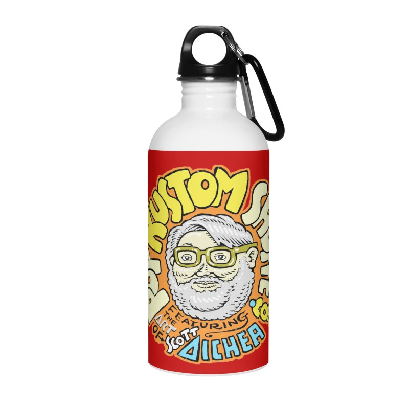 Pop Kustom Shoppe Logo Accessories Water Bottle by Popkustomshoppe Artist Shop