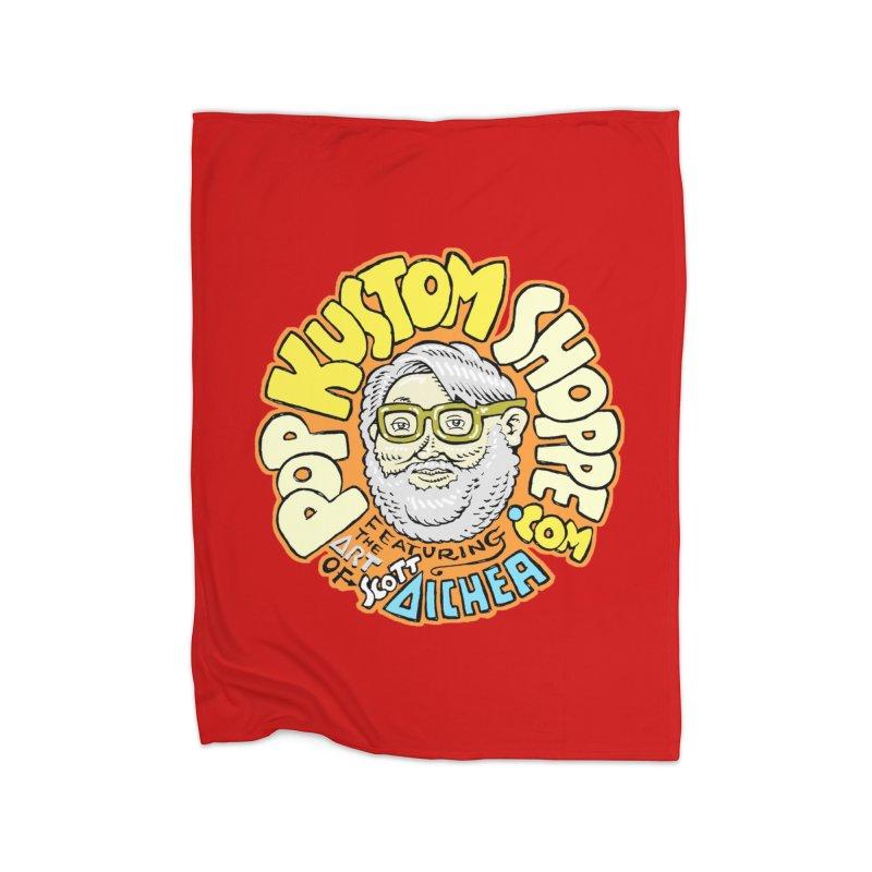 Pop Kustom Shoppe Logo Home Fleece Blanket Blanket by Popkustomshoppe Artist Shop