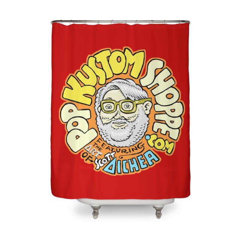 Pop Kustom Shoppe Logo Home Shower Curtain by Popkustomshoppe Artist Shop