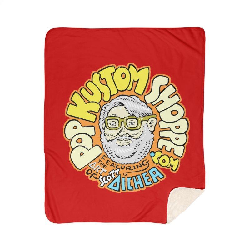 Pop Kustom Shoppe Logo Home Sherpa Blanket Blanket by Popkustomshoppe Artist Shop