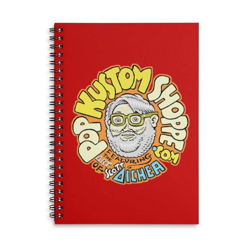 Pop Kustom Shoppe Logo Accessories Lined Spiral Notebook by Popkustomshoppe Artist Shop
