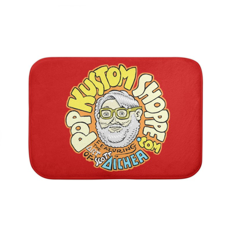 Pop Kustom Shoppe Logo Home Bath Mat by Popkustomshoppe Artist Shop