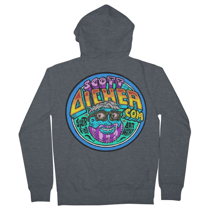 Moppy Aicher Women's French Terry Zip-Up Hoody by Popkustomshoppe Artist Shop