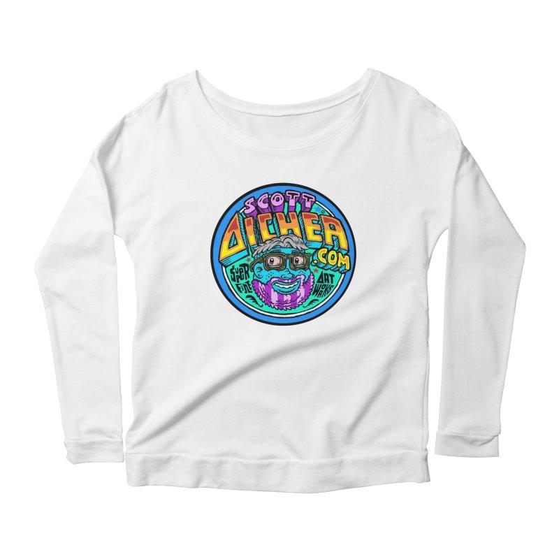 Moppy Aicher Women's Scoop Neck Longsleeve T-Shirt by Popkustomshoppe Artist Shop