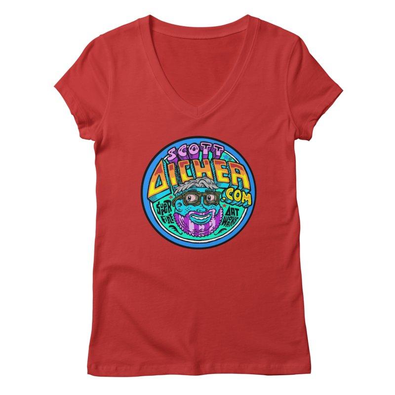 Moppy Aicher Women's Regular V-Neck by Popkustomshoppe Artist Shop