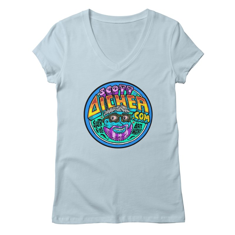 Moppy Aicher Women's Regular V-Neck by Popkustomshoppe Artist Shop