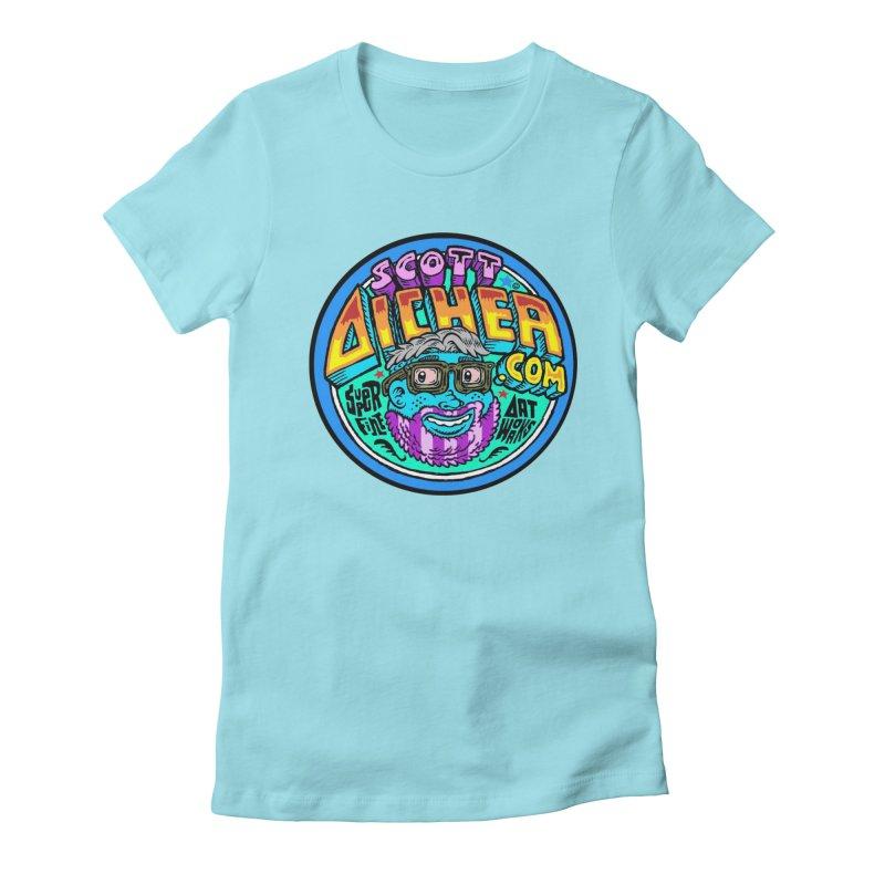 Moppy Aicher Women's Fitted T-Shirt by Popkustomshoppe Artist Shop