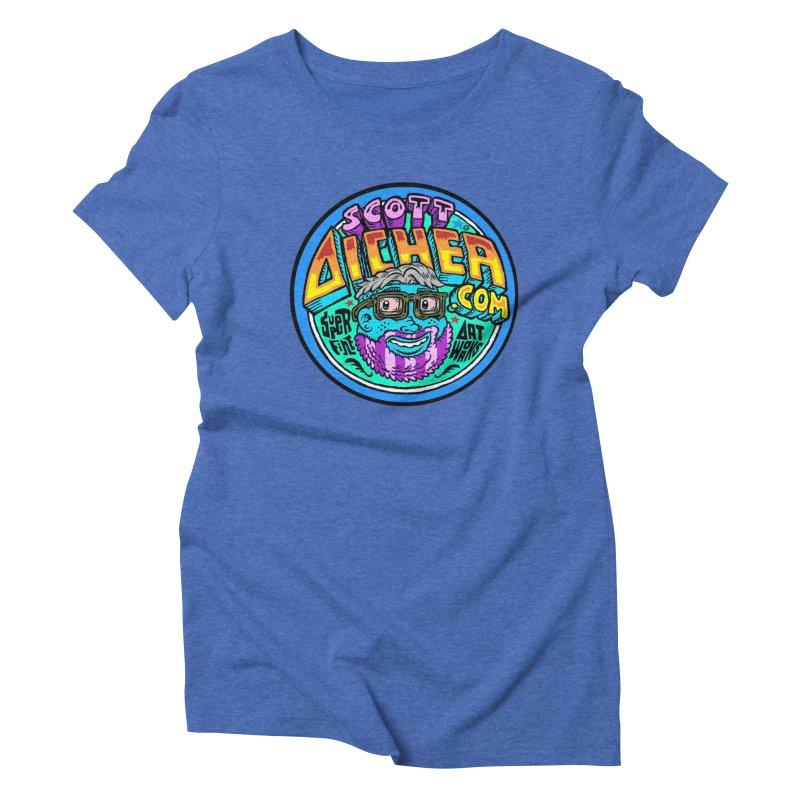 Moppy Aicher Women's Triblend T-Shirt by Popkustomshoppe Artist Shop