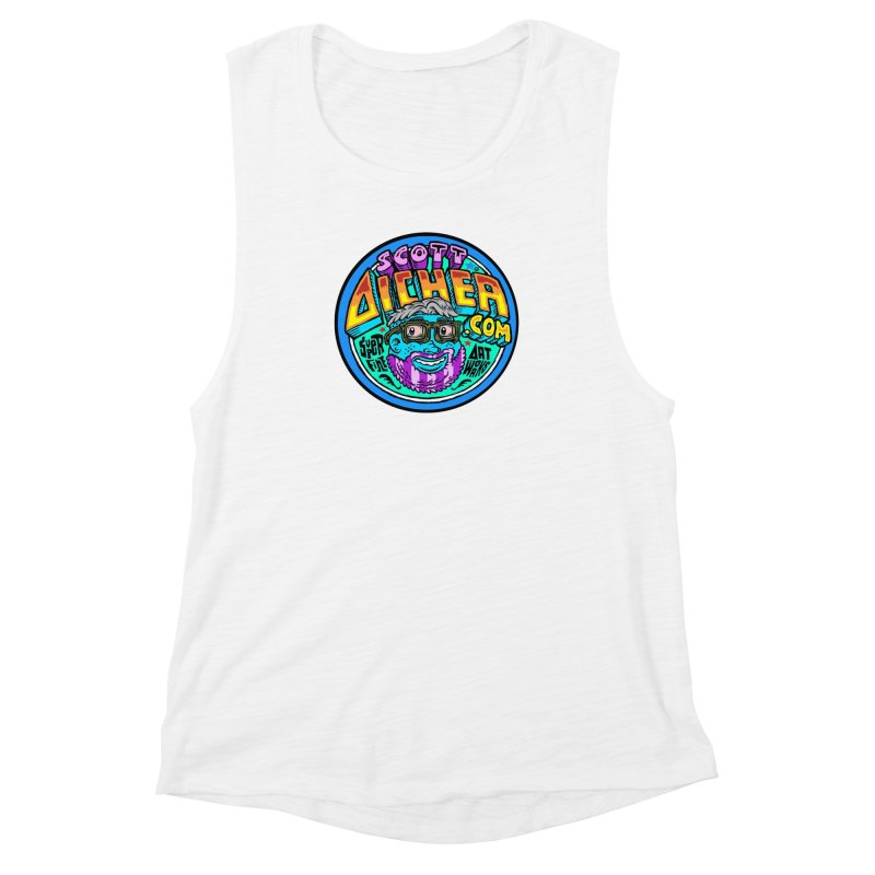 Moppy Aicher Women's Muscle Tank by Popkustomshoppe Artist Shop