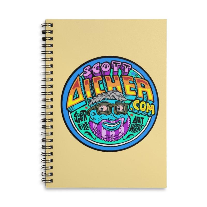 Moppy Aicher Accessories Lined Spiral Notebook by Popkustomshoppe Artist Shop
